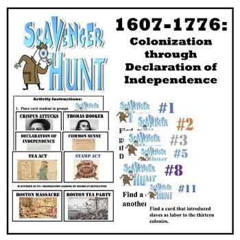 Scavenger Hunt: 1607-1776 Jamestown- Declaration of Independence
