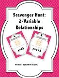 Scavenger Hunt:  2-Variable Relationships
