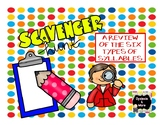 Scavenger Hunt - A Review of the Six Types of Syllables
