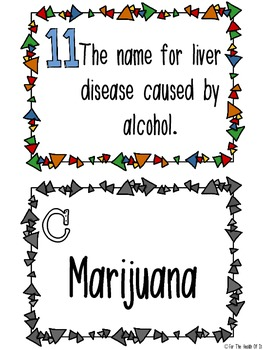 Scavenger Hunt Activity Alcohol, Tobacco, & Other Drugs