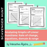 Scavenger Hunt Activity: Analyze Graphs of Real World Linear Functions
