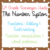 Scavenger Hunt: Add & Subtract Fractions - Computation & W