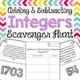 Scavenger Hunt: Add & Subtract Integers