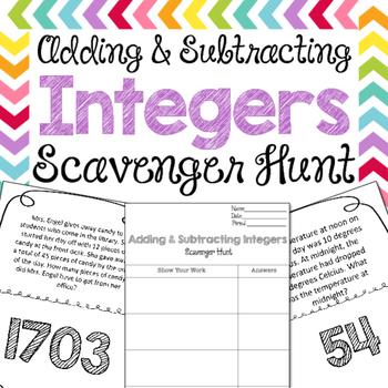 Scavenger Hunt: Add & Subtract Integers