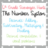 Scavenger Hunt: Add, Subtract, Multiply & Divide Decimals