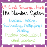 Scavenger Hunt: Add, Subtract, Multiply & Divide Fractions