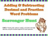 Scavenger Hunt:  Adding & Subtracting Decimal & Fraction W