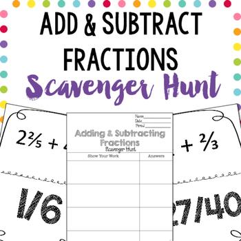 Scavenger Hunt: Adding & Subtracting Fractions