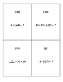Scavenger Hunt: Adding & Subtracting Integers