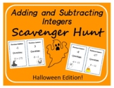 Scavenger Hunt: Adding and Subtracting Integers - Hallowee