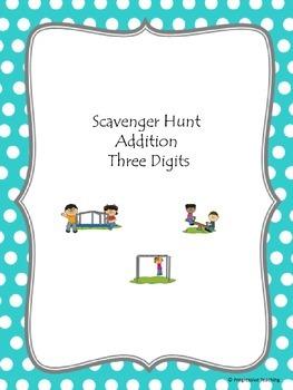 Scavenger Hunt Addition Three Digits