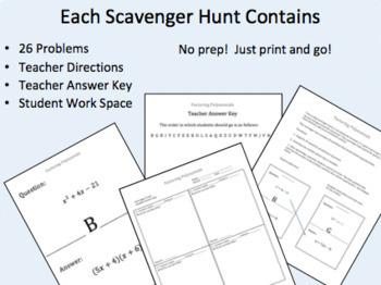 Scavenger Hunt:  Algebra 1 Bundle