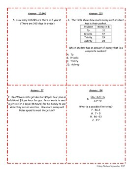 Scavenger Hunt: Algebraic Reasoning