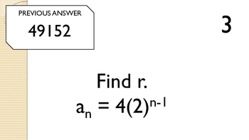 Scavenger Hunt: Arithmetic and Geometric Sequences