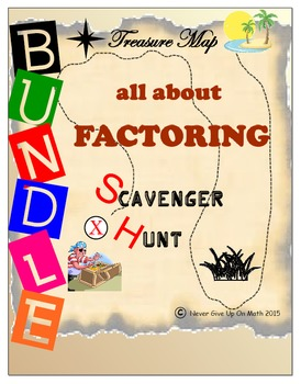 Scavenger Hunt {School/Home/Stations} BUNDLE - All About FACTORING