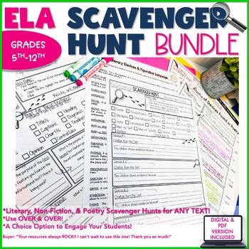 Scavenger Hunt BUNDLE-Save $$$-Literary, Non-fiction, Poetry