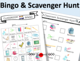 Scavenger Hunt & Bingo [Classroom Theme] Back to School Printable