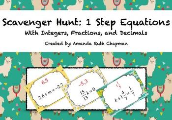 Scavenger Hunt Bundle: 1 & 2 Step Equations