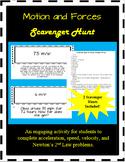 Scavenger Hunt Bundle - Acceleration, Speed, Velocity, New
