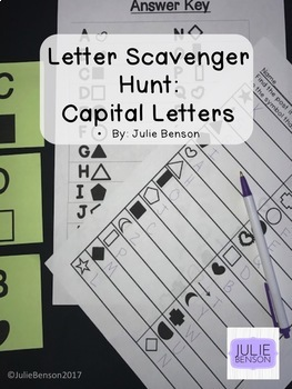 Scavenger Hunt Bundle: Capitals, Lowercase, Numbers 0-20