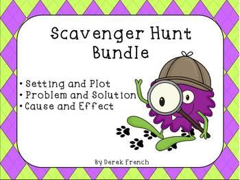 Scavenger Hunt Bundle (Setting and Plot, Problem and Solut