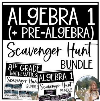 Scavenger Hunt (Bundle) for Pre-Algebra & Algebra 1