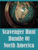 Scavenger Hunt Bundle North America-The US, Mexico and Canada Distance Learning