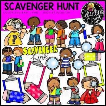 Scavenger Hunt Clip Art Bundle {Educlips Clipart}
