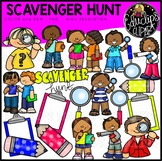 Scavenger Hunt Clip Art Bundle {Educlips Clipart}