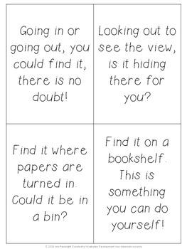 Scavenger Hunt Clues Editable