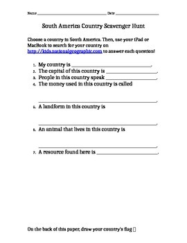 Scavenger Hunt -- Computer/iPad Activity
