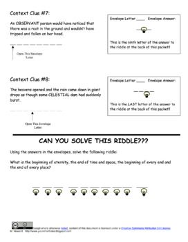 Scavenger Hunt - Context Clues