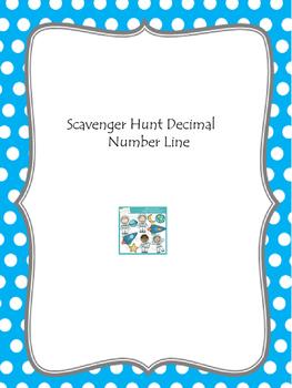 Scavenger Hunt Decimal Number Line