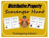 Scavenger Hunt: Distributive Property - Thanksgiving Edition!