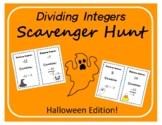 Scavenger Hunt: Dividing Integers - Halloween Edition!