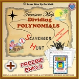 Scavenger Hunt - Dividing Polynomials (Long and/or Synthetic Division) & EMOJI