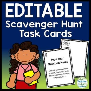 Scavenger Hunt - EDITABLE Scavenger Hunt - Perfect for all