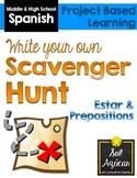 Spanish Scavenger Hunt Project - Estar, Prepositions