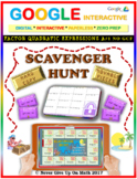 Scavenger Hunt: Factor Quadratic Expressions (Google Interactive & Copy)
