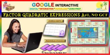 Scavenger Hunt: Factor Quadratic Expressions (Google Interactive & Copy)
