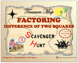 Scavenger Hunt {School/Home/Stations} - Factoring Difference of Two Squares