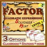 Scavenger Hunt {School/Home/Stations} - Factoring Quadratic Expressions - L 1