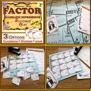 Scavenger Hunt {School/Home/Stations} - Factoring Quadratic Expressions - a = 1