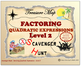 Scavenger Hunt {School/Home/Stations} - Factoring Quadratic Expressions - L 2