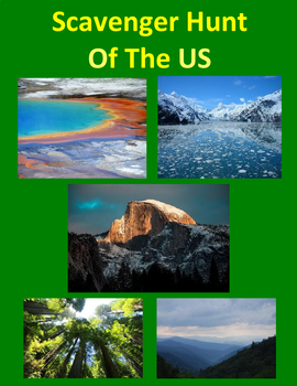Scavenger Hunt Famous Places of the United States using Google Maps