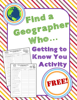 Back to School: Find a Geographer Who...