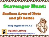Scavenger Hunt: Finding the Surface Area of Nets & 3D Solids - 6.G.A.4