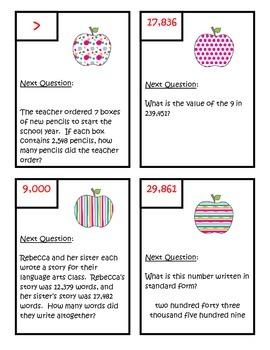 Scavenger Hunt - Fourth Grade Common Core Math Review - NBT