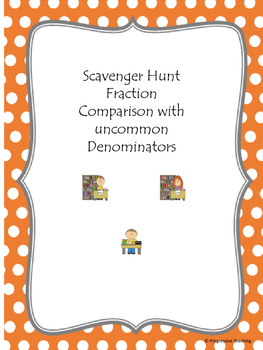 Scavenger Hunt Fraction Comparison with Uncommon Denominators