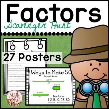 Factors and Multiples   Factor Scavenger Hunt